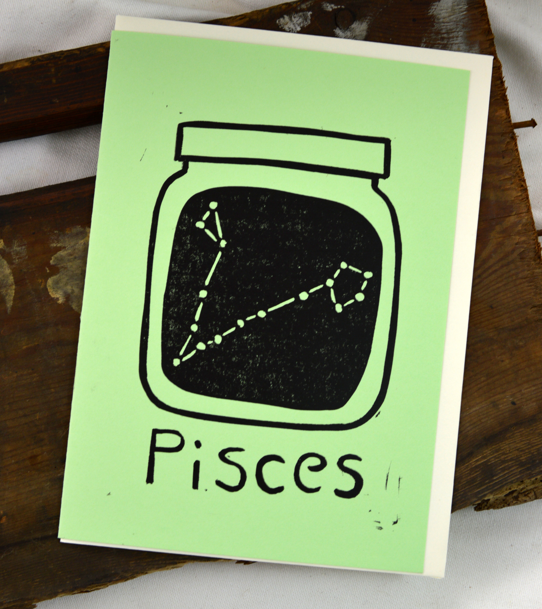 pisces zodiac greeting card made in buffalo ny gift shop