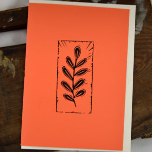 leaf greeting card made in buffalo ny gift shop