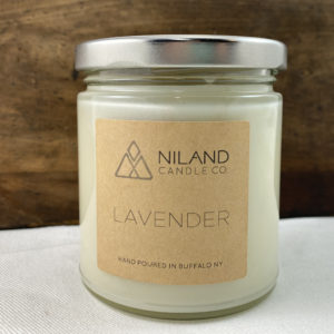 lavender soy candle made in buffalo ny gift shop