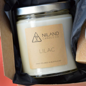 lilac soy candle made in buffalo ny gift shop