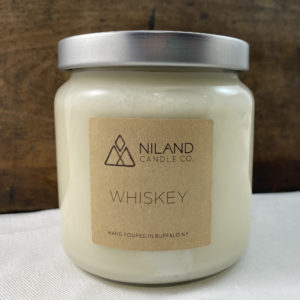 whiskey soy candle made in buffalo ny gift shop