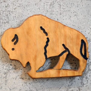buffalo bison wood trivet made in buffalo ny gift shop
